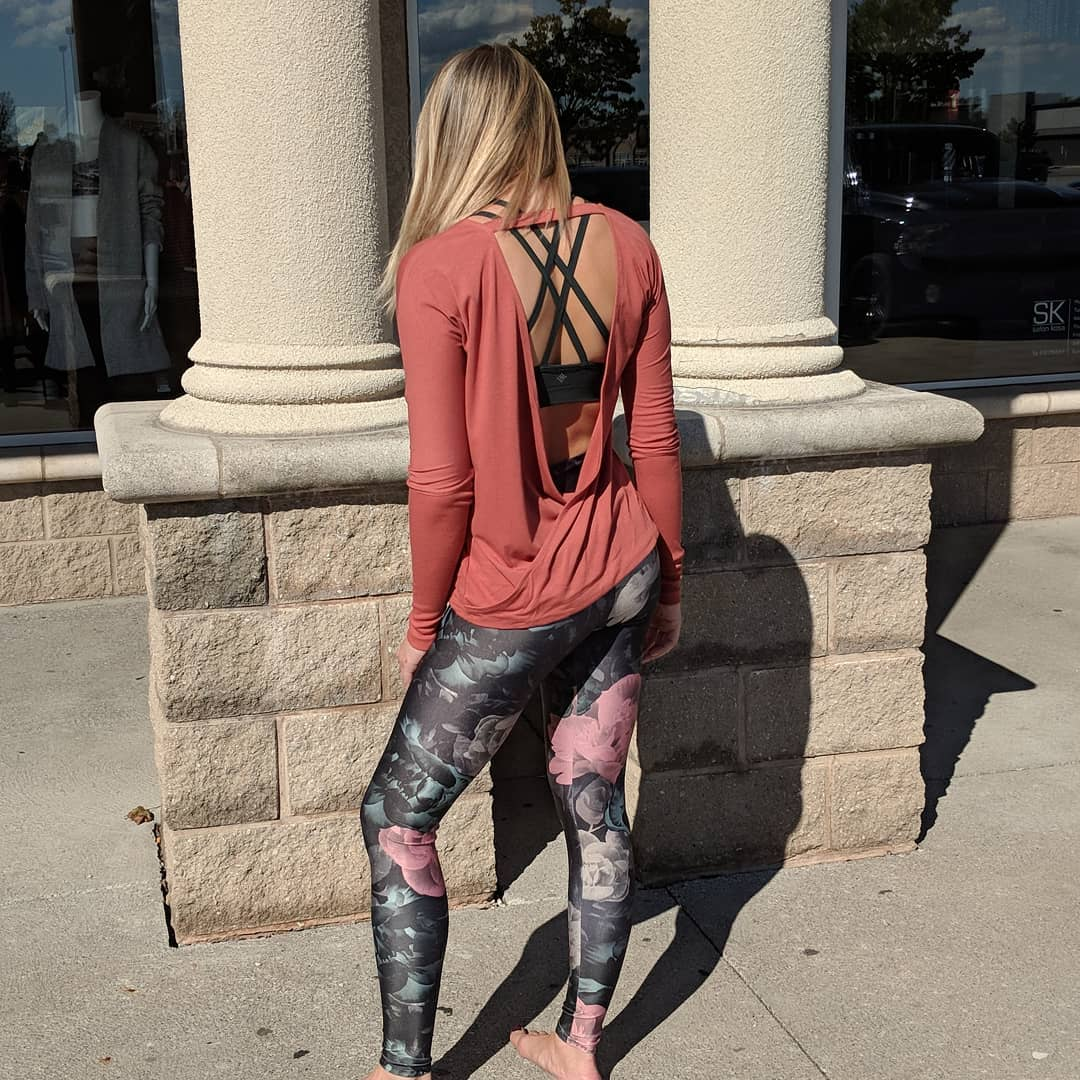 Athleisure Pink Floral Pattern