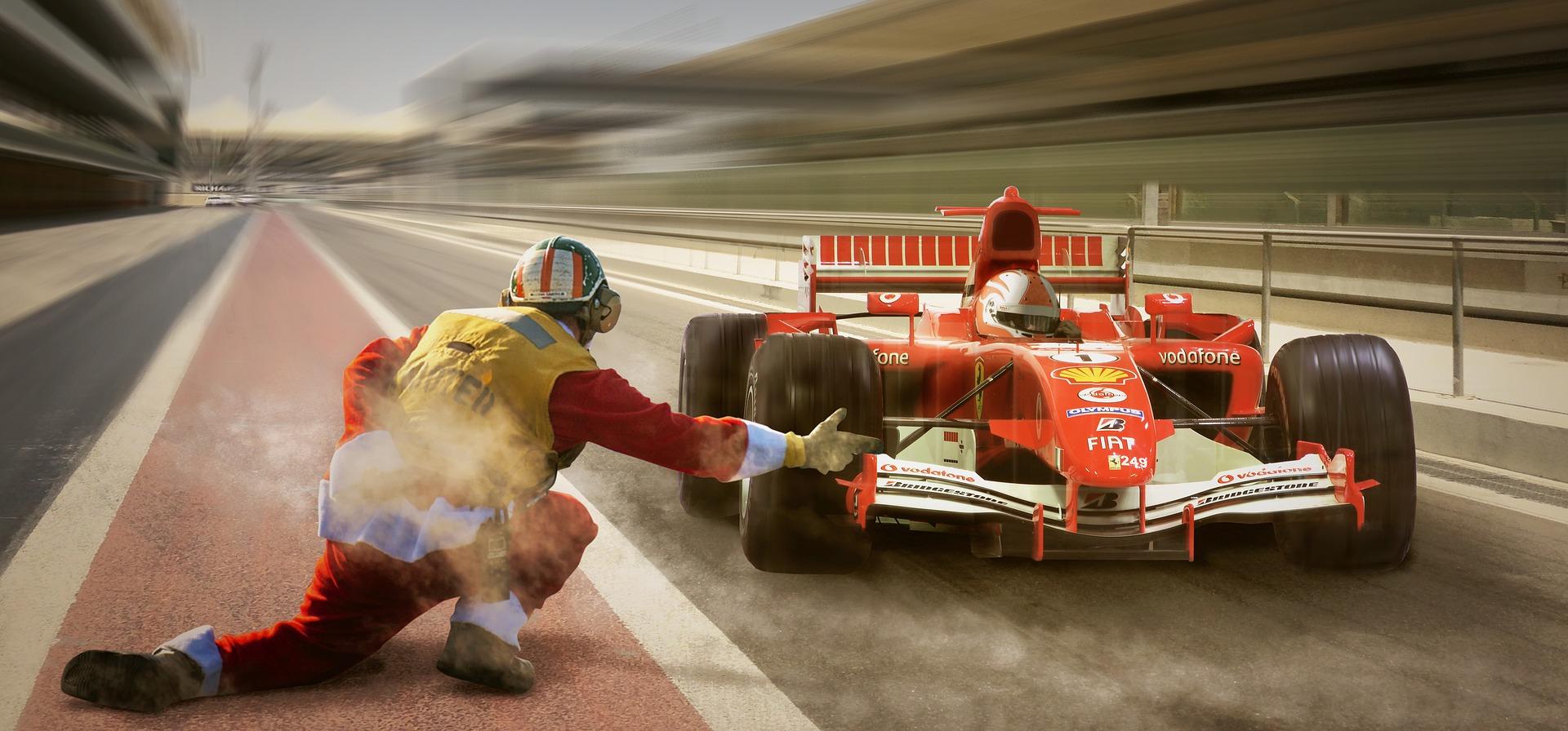 Race car - Formula 1 - Pit stop