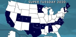 Super Tuesday 2020 Map